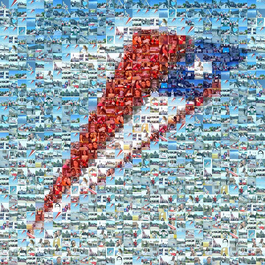 Mosaico Haz tu voto volar